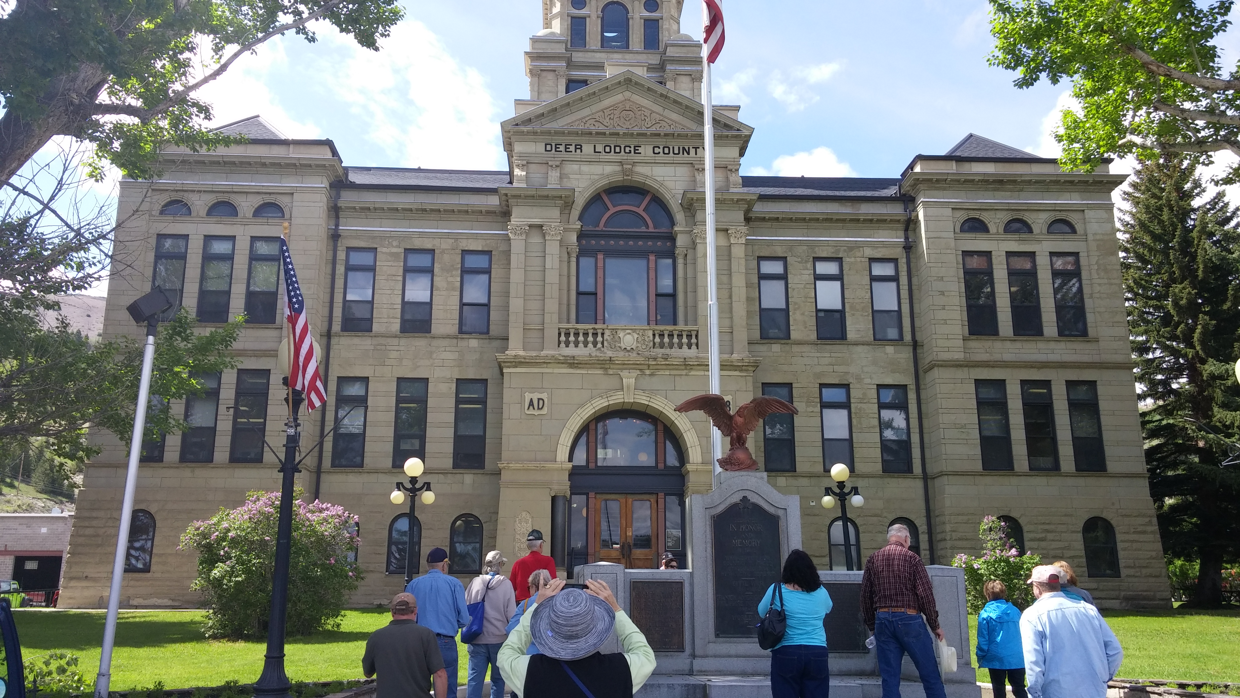 Visiting Deer Lodge County Courthouse in Ananconda. Was almost state capitol except for hidden ballots.